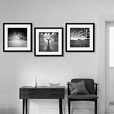 Buy Animal Framed Canvas / Set Wall Art,PVC Black Mat Included Frame Art