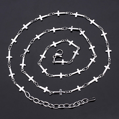 Buy U7®New Cool Women's 316L Titanium Steel Jesus Crosses Link Chain Necklace Jewelry Gift Women