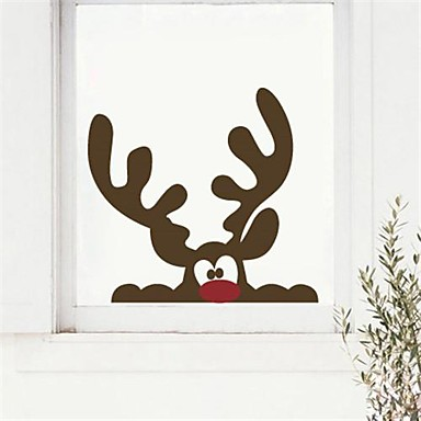 Jiubai christmas reindeer wall sticker wall decal 40 38 for Sticker fenetre noel