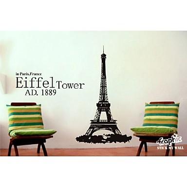 Eiffel torre pegatinas de pared murales de pared tatuajes for Pegatinas murales pared