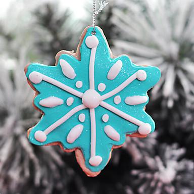 Arcilla polim rica copo de nieve de caramelo que cuelga - Decoraciones del arbol de navidad ...