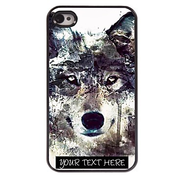 Personalized Phone Case - Iceberg Wolf Design Metal iPhone 4/4S