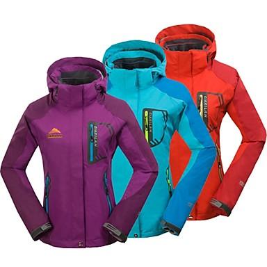 Buy Cikrilan® Women Hiking Jacket/3-in-1 Jackets Fleece Lining/Warm/Waterproof/High Breathability/Waterproof/Wicking Winter/Autumn Camping &