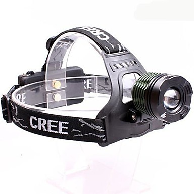 Buy Headlamps LED 3 Mode 2000 Lumens Adjustable Focus / Waterproof Anglehead Cree XM-L T6 18650 Multifunction - Others , Black Green