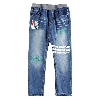 Boy's Cotton / Spandex / Denim Jeans,Winter / Fall / Spring Patchwork
