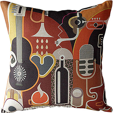 Buy Bar Cotton/Linen Printed Decorative Pillow Cover