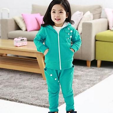 Meisje herfst koreaanse versie van de nieuwe jongens en meisjes kinderkleding rits trui leisure - Set van jongens en meisjes ...