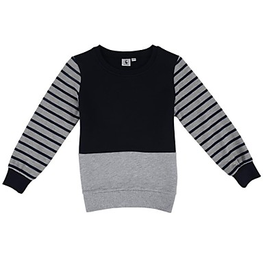 Boy's Cotton / Polyester Hoodie & Sweatshirt,Winter / Spring / Fall Striped