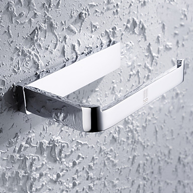 Buy HPB®,Toilet Paper Holder Chrome Wall Mounted 15*9*3cm(6*3.5*1.2 inch) Brass Contemporary