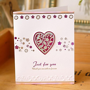 Buy Rose Red Bronzing Stereo Love Thank Greeting Card(7.5*9cm)