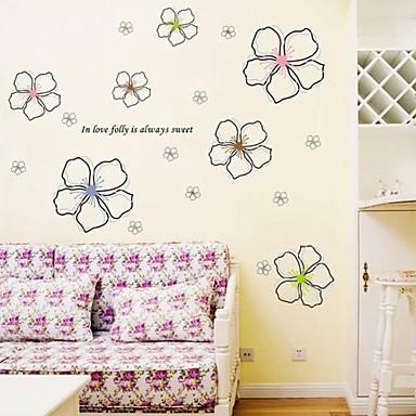 Bot nico florales personas pegatinas de pared calcoman as for Calcomanias para paredes decorativas