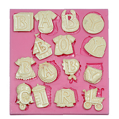 Buy Baby Letters Silicone Mould Cake Decorating Mold Fondant Fimo Chocolate Candy