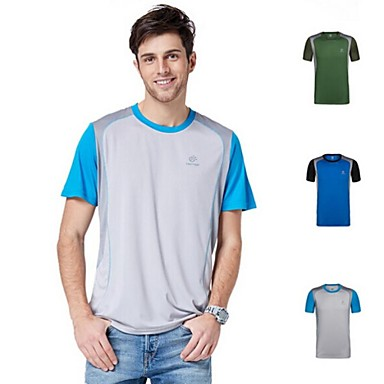 Outdoors Summer Men's Polyester Gray Blue and Army Green Colors Quick-drying Sweat Absorbing T-shirts