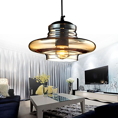 1 - Light Modern Glass Pendant Lights in Transparent Bubble Design