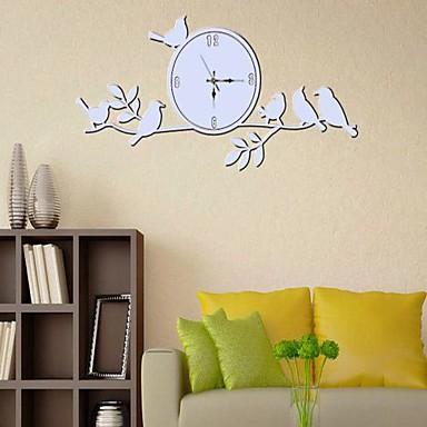 Aftagelig fahion gren og ur formet soveværelse / stue væg sticker ...