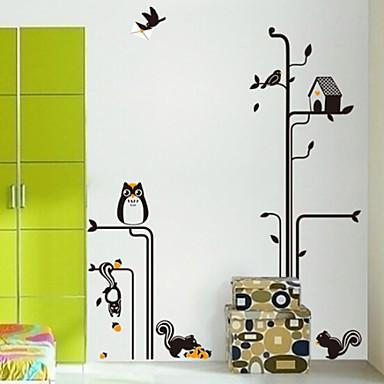 hibou amovible de l 39 environnement sous l 39 autocollant lampadaire mural pvc de 2913404 2016. Black Bedroom Furniture Sets. Home Design Ideas