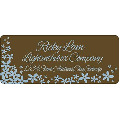 Etiquettes d 39 adresse personnalis chocolat en papier - Stickers muraux personnalises ...