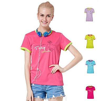2015 New Arrival Outdoors Casual Camping Hiking Summer Women's Polyester Multi Colors Quick-drying T-shirts