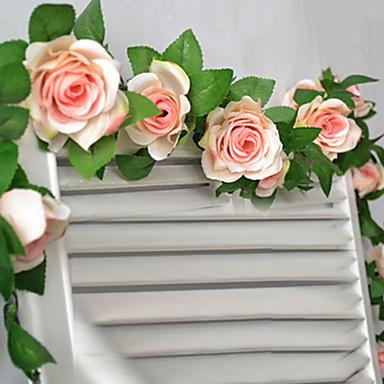 Buy 78 inchL Set 16 Flowers Rose Flower Rattan Silk Cloth