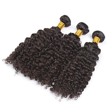 Buy 8 inch-28 inchBrazilian Kinky Curly Virgin Hair 100g/pc Brazilian Human Weft Weaves