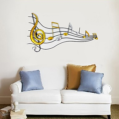 Buy E-HOME® Metal Wall Art Decor, Note Decor One PCS