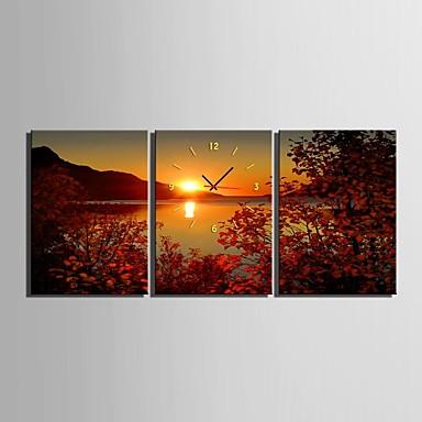 Buy E-HOME® Lake Sunset Clock Canvas