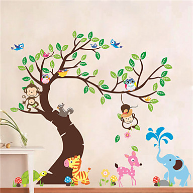 Buy Animals / Botanical Shapes Wall Stickers Plane , PVC 60*90*0.2cm (23.6*35.4*0.079inch)