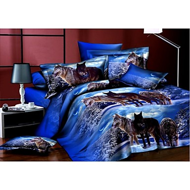 bedtoppings 3d prints duvet cover 4pcs set 3068428 2016. Black Bedroom Furniture Sets. Home Design Ideas