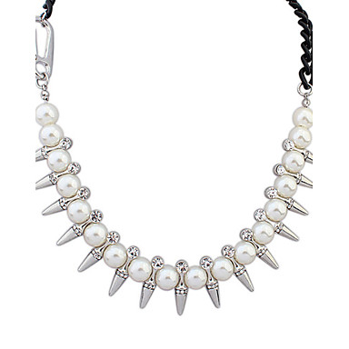 Alloy/Imitation Pearl/Rhinestone Necklace Choker Necklaces Casual 1pc