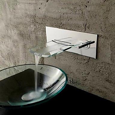 mural chrom cascade de cuivre robinet lavabo argent de. Black Bedroom Furniture Sets. Home Design Ideas