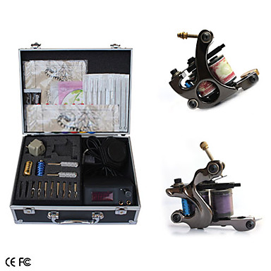 Complete set tattoo kits with 2 machines superior lcd for Superior tattoo machine