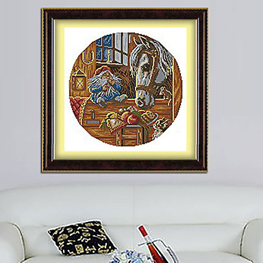 The horse and house household tool living room diamond cross stitch needlework wall home decor Home decor wall crosses
