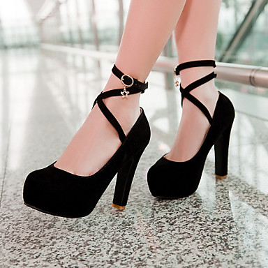 Buy Women's Shoes Chunky Heel Round Toe Pumps Dress Colors Available