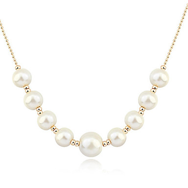 Alloy/Imitation Pearl/Resin Necklace Strands Necklaces Casual 1pc
