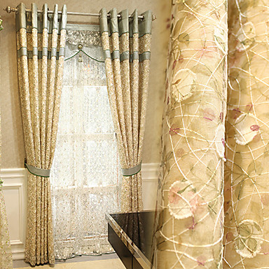 Yimi brugerdefinerede gardin klud europæisk stil luksus stue ...