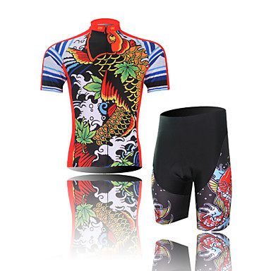 Buy Men's/Unisex Short Sleeve Spring Cycling Suits Shorts Breathable/Ultraviolet R/Quick Dry/3D Pad/Wicking/Compression