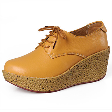 women's shoes leather wedge heel closed toe athletic shoes