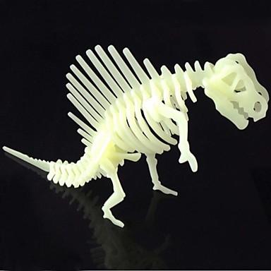 Buy Jigsaw Puzzles 3D Building Blocks DIY Toys Dinosaur ABS Ivory Model & Toy