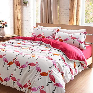 Flamingo Duvet Cover Sets 100 Cotton Queen King 3213532