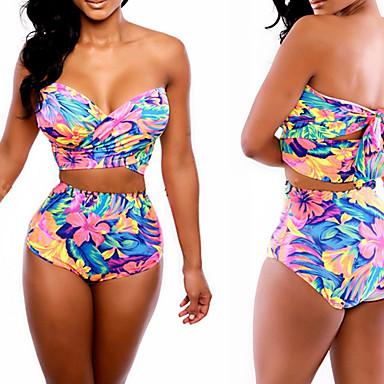 DONNE - Costumi da bagno - Sexy/Bodycon/Spiaggia/Stampa/Feste Sulle spalle - Smanicato ...