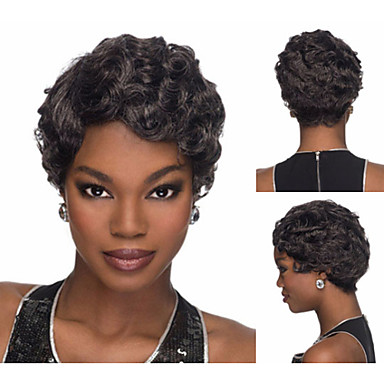 classic pixie cut synthetic african american wigs with