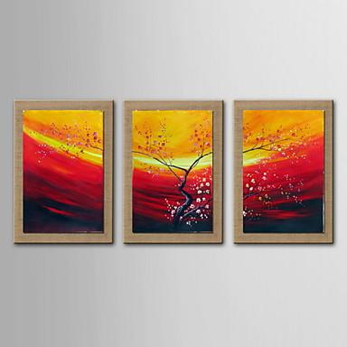Peinture l 39 huile abstraite d coration paysages peints for Peinture lin naturel