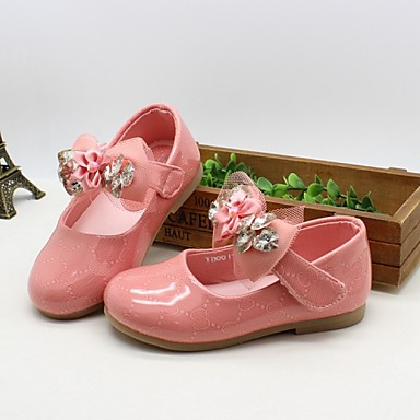 Baby Shoes Dress Patent Leather Flats Pink Orange Coral
