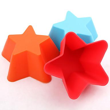 10pcs hornear moldes en forma de estrella moldes pastel de - Moldes para gelatina ...