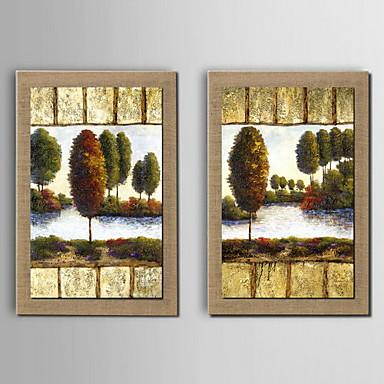 Peinture l 39 huile d coration paysage abstrait peint la for Peinture lin naturel
