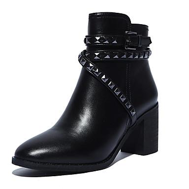 Zapatos de mujer tac n robusto tacones puntiagudos - Botas de trabajo ...