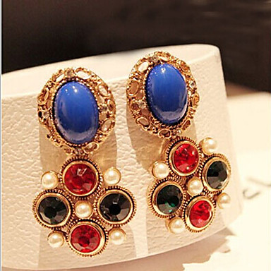 """""""New Arrival Hot Selling High Quality Exaggerated Geometric Color Gem Ea..."""