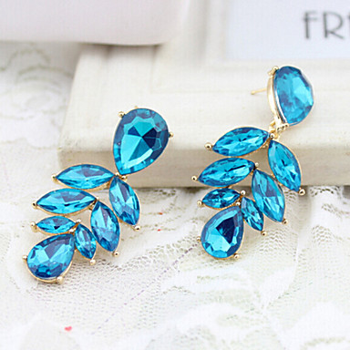 """""""New Arrival Hot Selling High Quality Crystal Leaf Earrings"""""""