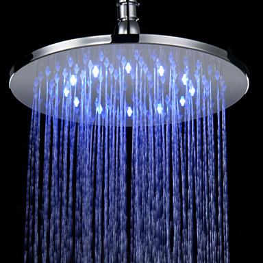 Ducha lluvia contempor neo led efecto lluvia lat n cromo - Duchas efecto lluvia ...