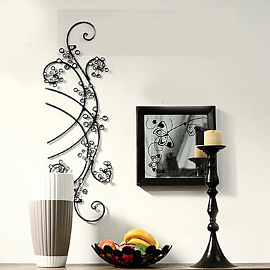 Buy E-HOME® Metal Wall Art Decor, Streamline Flower Decor One PCS